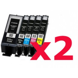 Kit di 10 cartucce compatibili Canon IP 7250 MG5350 MG6350 MX925