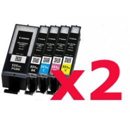 Kit di 10 cartucce compatibili Canon IP 7250 MG5350 MG6350 MX925