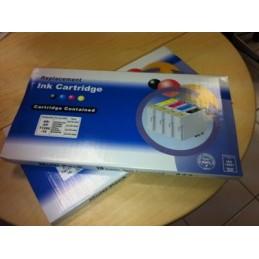 10 cartucce compatibili T0711-712-713-714 (4x nere + 6 colori)