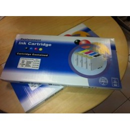 10 Cartucce compatibili T01811-1812-1813-1814 (4x nere + 6