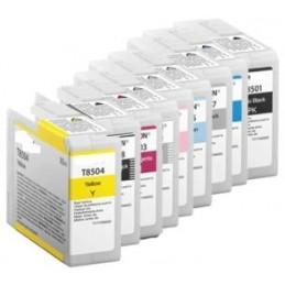 GIALLO da 80ml pigmentato compatibile per Epson SureColor P 800