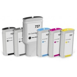 Yellow Compatible  Hp Designjet  T1500,T2500,T920-130Ml 727