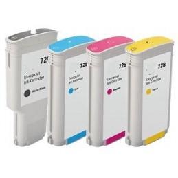 GIALLO da 130ml compatibile HP DesignJet T730 T830