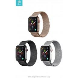 Cinturino per Apple Watch 4 serie 40mm Maglia Milano Gold