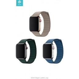 Cinturino Apple Watch 4 serie 40mm Elegant Leather Forest Gr