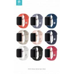 Cinturino Apple Watch 4 serie 44mm Delux Sport Black