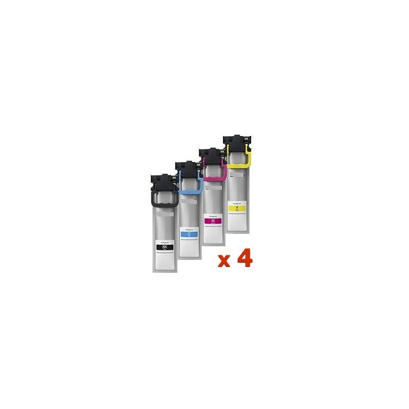 4 serbatoi pigmentati compatibili Epson WF Pro C5210 C5215