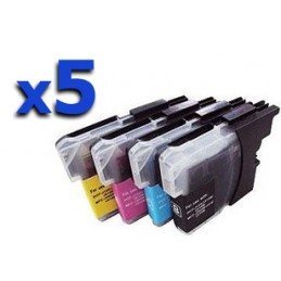 KIT di 5 cartucce per colore compatibili Brother DCP J 562 J