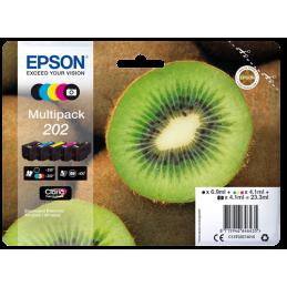 Multipack Epson Kiwi 202 Nero Ciano Magenta Giallo