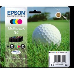 Multipack Epson Pallina golf 34 Nero Ciano Magenta Giallo