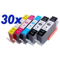 30 cartucce XL (10 nere + 20 colore) compatibili HP n° 364 XL
