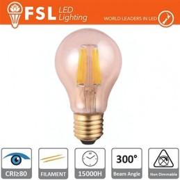 Lampada Goccia Filamento Ambra - 6W 2200K E27 650LM