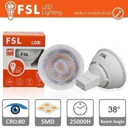 GU10 Lampadina LED - 3W 6500K 270LM 38° CRI 80