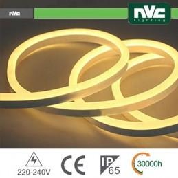 Tubo LED Flex 2835 - 50Metri 8W 3000k AC220-240V IP65