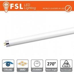 T5 LED Tubo Vetro - 12W 1000LM 4000K G5 PF0.5 Size:870x21mm