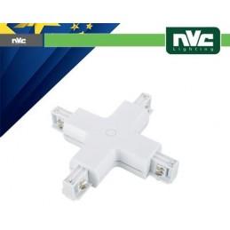 Connettore Forma  X  Binario Trifase - Colore Bianco