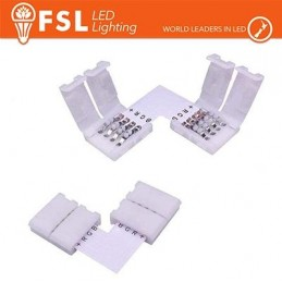Connettore rapido L per strip 10mm LED RGB/RGBW
