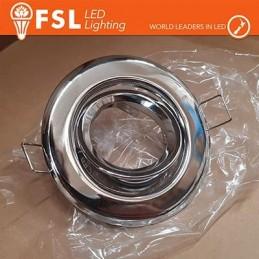 Portafaretto orientabile Color Alluminio90*25Φ70 - GU10 MR16