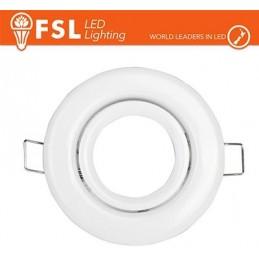 Portafaretto orientabile Colore Bianco 90*25/Φ70 - GU10 MR16