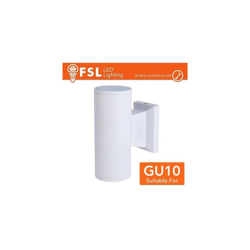 Applique portalampada 2 vie, GU10  IP54 - BIANCO